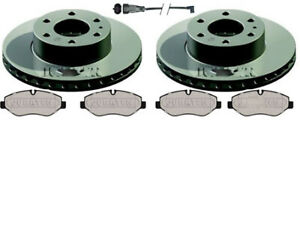 FITS IVECO DAILY QUALITY FRONT BRAKE DISCS AND PADS & LEADS - REAR SINGLE WHEEL