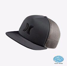NEW Hurley Blocked 2.0 Trucker Snapback Gray Embroidered Hat Cap