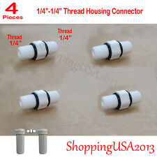 """4X 1/4"""" Thread Male Fitting Connector Fitting 10"""" Standard Housing Water Filter@"""