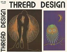 Thread Design String Art Pattern Vintage Book 70's RARE HP-418 NEW