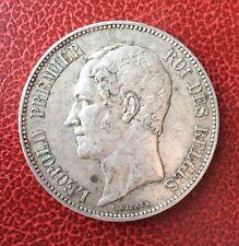 Belgique - Léopold Ier - Très Jolie  5 Francs 1851  Tête nue -