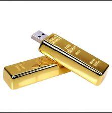 Penna/ flash memory/ chiavetta usb 128 gb a forma di lingotto di oro