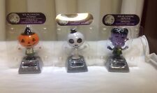 Set Of 3 Halloween Solar Dancing Frankenstein Monster, Skeleton, Pumpkin Man New
