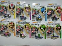 2019 Hot Wheels Mario Kart Koopa Troopa, Wario, Toad, Blue Yoshi RARE DIE CAST !