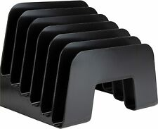 New Listingdesktop File Organizer 6 Compartments Office Inclined Desk Step Sorter For Easy