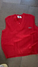 Vintage 80s 70s red tank  Mod Casual Terrace Gabicci style mens Italian Carlo