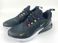 Nike Air Max 270 Black White Multi Color Running Shoes AH6789-023 Women's Sz 9.5