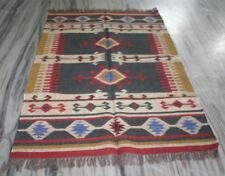 "Kilim Rug Handmade Kilim Rug Carpet Rug Area Rug 48x72"" Inch Silk Rug Dhurrie"