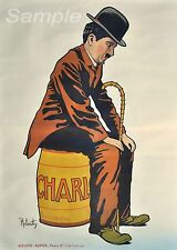 VINTAGE 1917 CHARLIE CHAPLIN A4 poster stampa