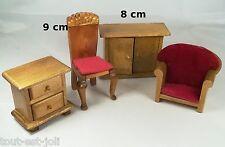 lot meubles en bois miniature, maison de poupée, vitrine, meuble  *B12