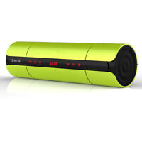 Portable Wireless Bluetooth Speaker NFC System Card Reader FM Radio / Green