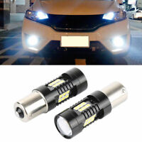 1 Pair 6000K White 1156 BA15S P21W 21SMD LED Car Tail Backup Reverse Light Bulbs
