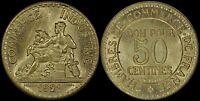 FRANCE 50 CENTIMES 1921 (CHOICE UNC) *KEY-DATE*