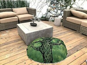 Tree of life Floor Pillow Cover Ottoman boho Round Pouf cover hippie footstool