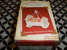 """NIB! SO CUTE! 2005 HALLMARK CHRISTMAS ORNAMENT~ """"PRIMERE NAVIDAD DE BEBE' """" T15"""