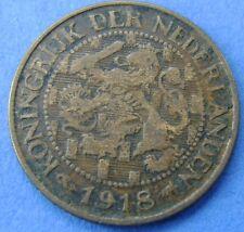 Nederland - The Netherlands 1 cent 1918 KM# 152