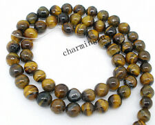 10pz perline in pietra occhi di tigre naturale 6mm bijoux
