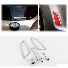 Chrome Rear Wiper Arm Fog Lamp Garnish Molding 6p For 2011-2014 Hyundai Veloster