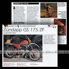 ZÜNDAPP GS 175 ZF 1981 Trail Bike - Fiche Moto Motorrad Motorcycle Card MRC