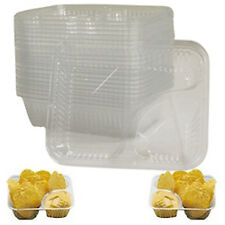 50 Nacho Cheese Tray Clear 2 Compartment