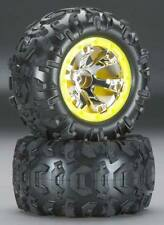 Traxxas 1/16 Summit Canyon Tires & Geode Chrome Wheels w/ Yellow Beadlock 7276