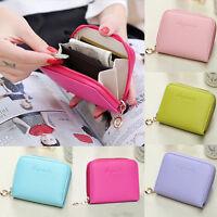 Womens Fashion Leather Small Wallet Card Holder Zip Coin Purse Clutch Handbag