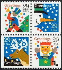 USA Sc. 2798c 29c Christmas Figures 1993 MNH bklt. block