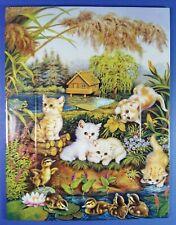 ANNABURG - JURGEN SCHOLZ - CAT KITTENS COLLECTORS PLATE / TILE - ROMANCE IN MAY