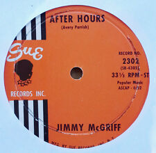 """JIMMY McGRIFF - AFTER HOURS b/w SATIN DOLL - SUE - JUKEBOX 7"""" - 33 1/3 RPM"""