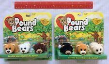 "Lot of 6 Pound Puppies BEARS Galoob Toys Plush  2.5"" RARE VINTAGE 1997 NEW Cert."