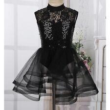 New listing Kids Girls Mock Neck Skating Dress Competition Costume Sequin Ballet Dance Wear