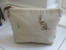 Hartley Hare pattren Make-up bag with optional personalised embroidered name