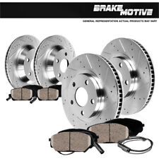 Front + Rear Drilled Slotted Brake Rotors & Ceramic Pads 2004 - 2011 BMW X3 E83