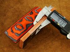 "Pair of Red & Black Exotic Wood 5"" Scales Handle Making Blanks Bush Crafts 713"