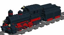 Lego Custom STEAM ENGINE No.1 for 9V (Wagon/Train/Railway) INSTRUCTIONS ONLY!!