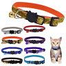 Personalised Sequins Puppy Dog Kitten Cat Breakaway Collar & Bell Quick Release