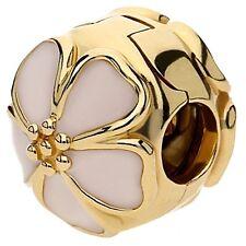 AUTHENTIC PANDORA CHERRY BLOSSOM PINK ENAMEL 14K GOLD CLIP #750816EN40 BRAND NEW