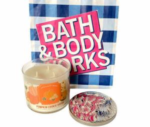 Bath & Body Works Pumpkin Cookie Dough 3 wick Candle w/ Essential Oils 14.5 oz