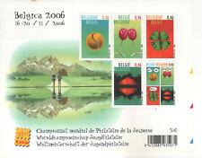 """Blaadje """"belgica 2006, Wreldkampioenschap Jeugdfilatelie"""" (5€)"""