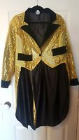 Funny Fashion size XL gold sequinned tail coat rocky horror