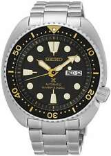 """Seiko Prospex """"Turtle"""" Automatic Diver 200M Black Yellow Dial SRP775 Mens Watch"""