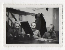 PHOTO GRAMOPHONE DISQUE PHONOGRAPHE Groupe Musique Vers 1940 Snapshot Table