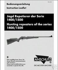 Anschutz 1400 Repeaters Rifle Manual New Reproduction