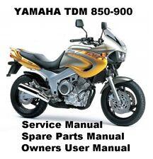 YAMAHA TDM850 TDM900 TDM Owners Workshop Service Repair Parts Manual PDF on CD-R