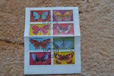 Briefmarkenblock aus Guinea Ecuatorial - Schmetterlinge