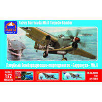 Scale 1:72 Fairey Barracuda British Carrier-borne Torpedo Bomber Model Kits