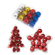 Mini Baubles Silver Red Blue Gold Christmas Decorations Decor Ornament Hangers