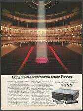 SONY CDP-101 Compact Disc Player - 1983 Vintage Print Ad