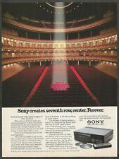 Sony CDP-101 reproductor de Disco Compacto - 1983 anuncio impreso De Colección