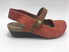 7f524deee48 OTBT Springfield Mandarin Walnut Leather Comfort Mary Jane Wedge Shoe  Ladies 6 1